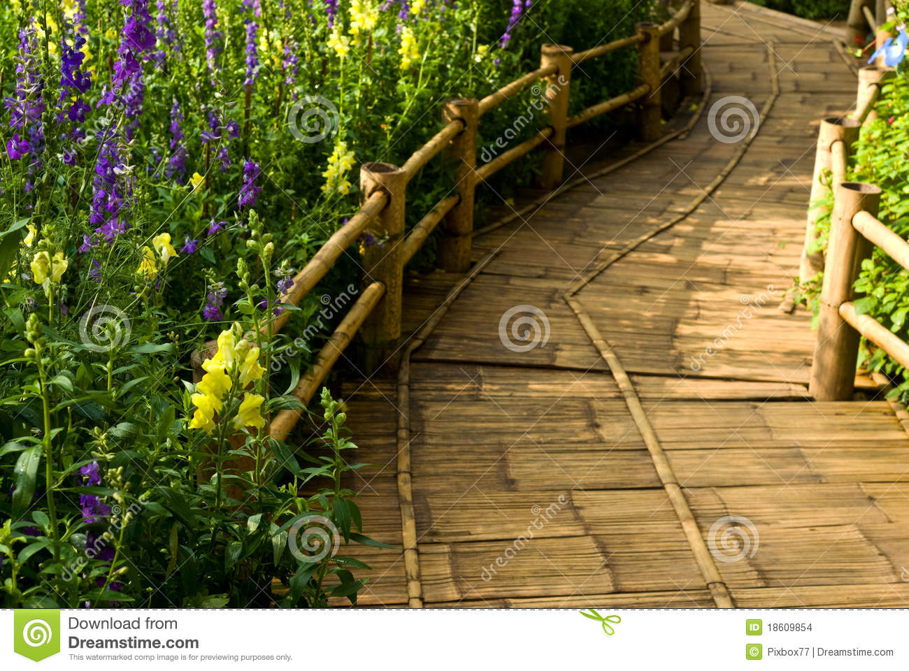 Bamboo Surface On Walkway Stock Images Image 18609854