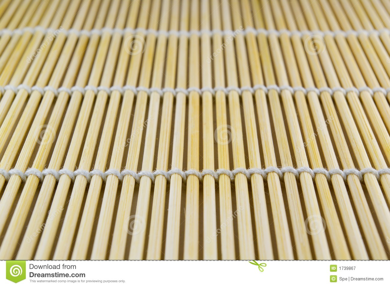 Bamboo Sushi Mat Stock Image Image Of Striped Organic