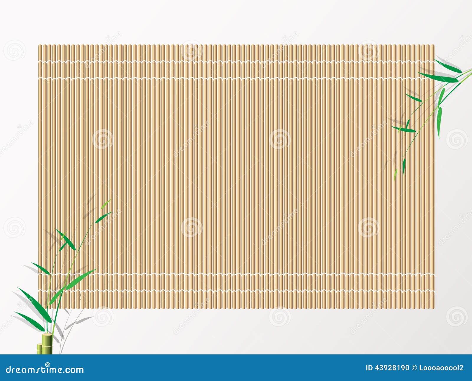 Bamboo Sushi Rolling Mat Background Vector Illustration