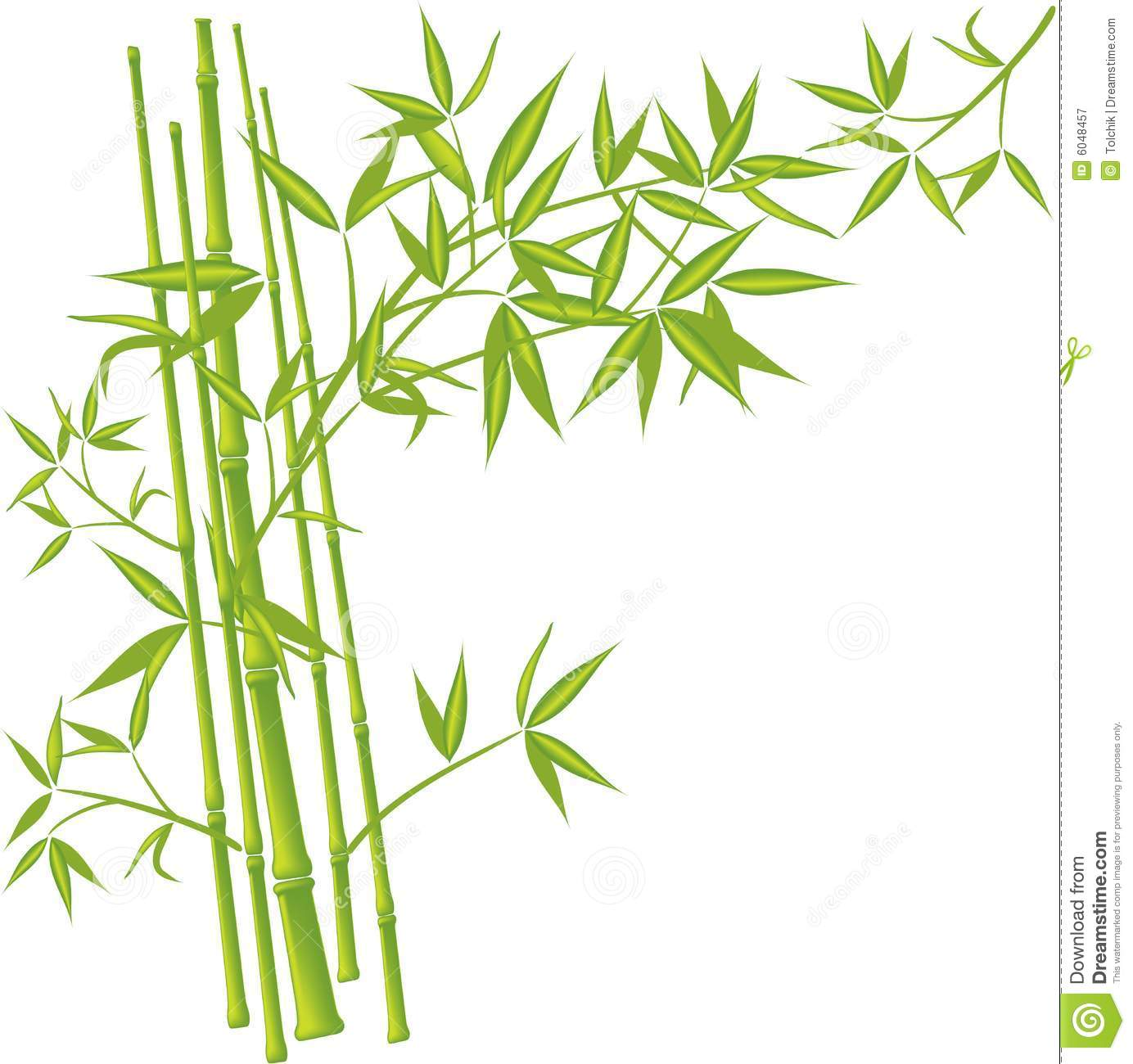 Bamboo Art Design : Bamboo vector stock illustration of growth