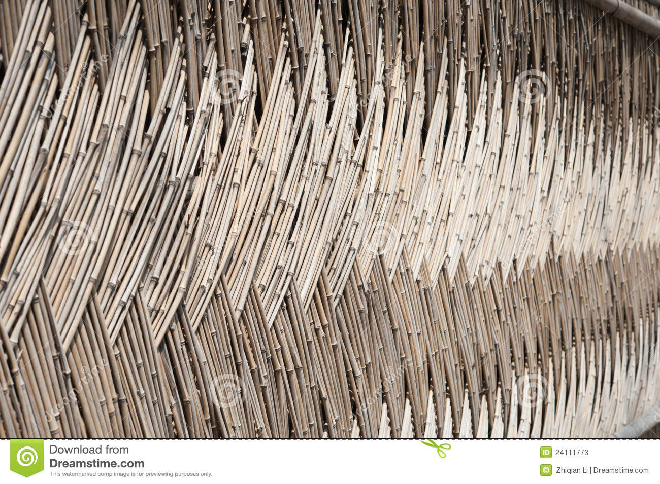 Bamboo Wall Stock Image Image Of Oriental Courtyard