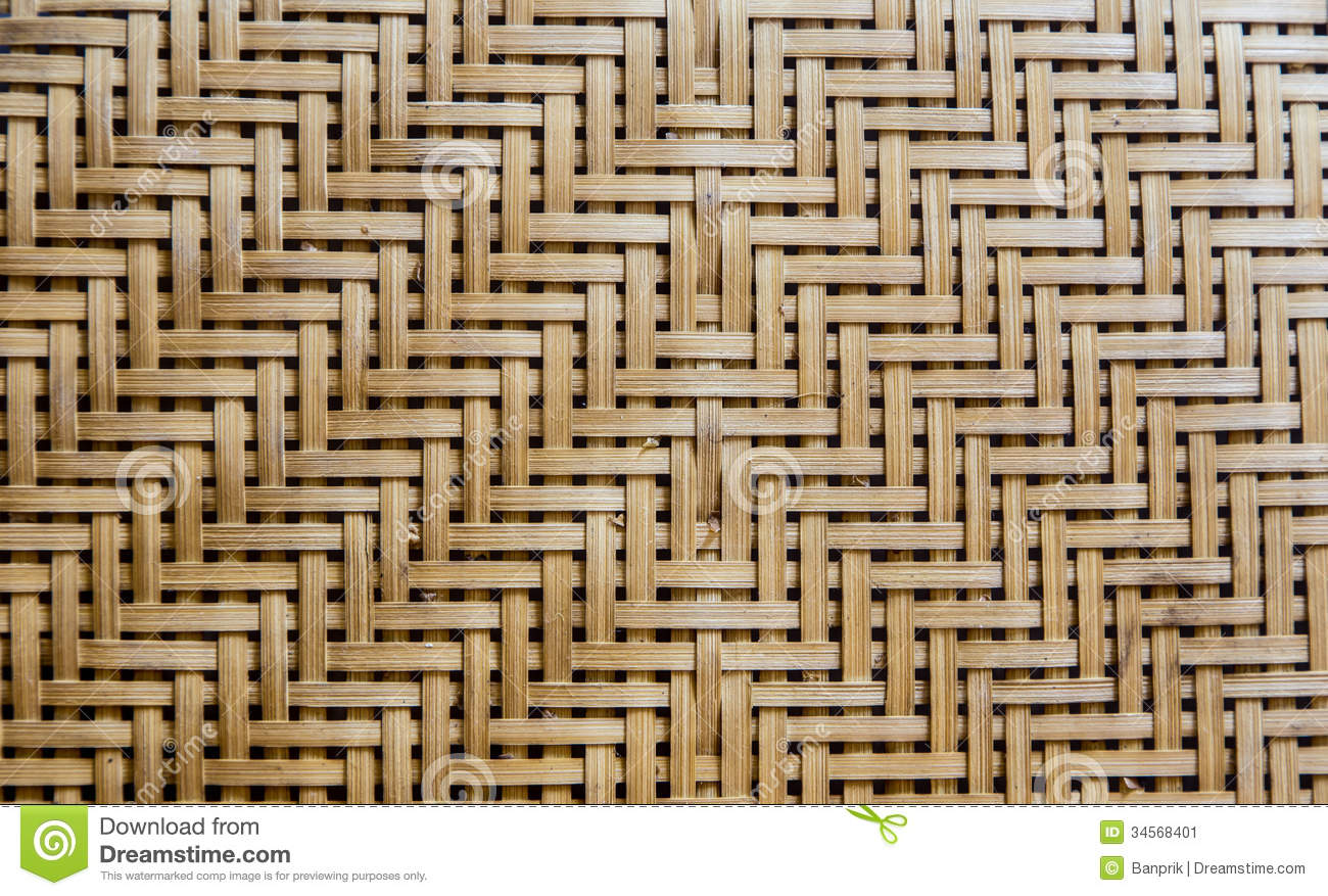 Bamboo Weave As Background Stock Image - Image: 34568401