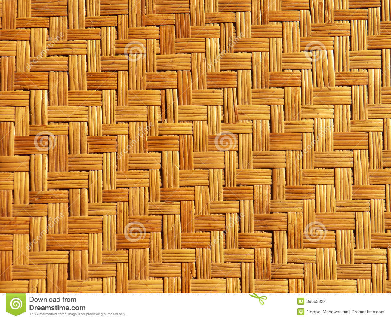Bamboo Weave Pattern Stock Photo Image 39063822