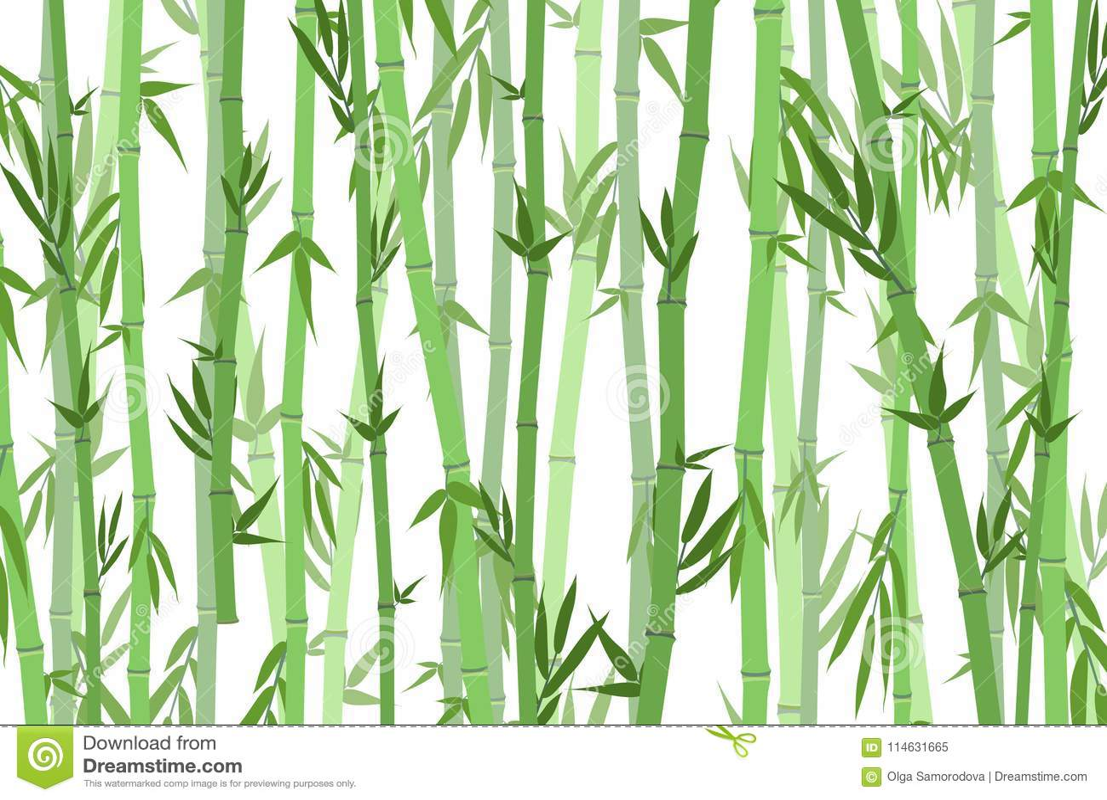 Bambu Forest Landscape Background dos desenhos animados Vetor
