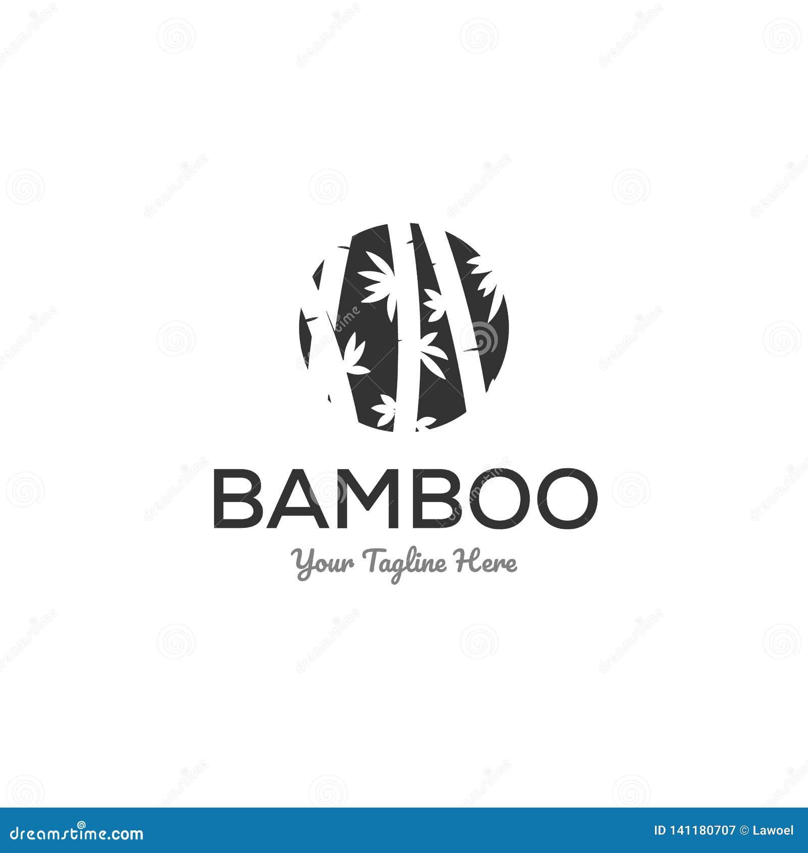 Bambulogoen planlägger inspiration i negativ utrymmelogo