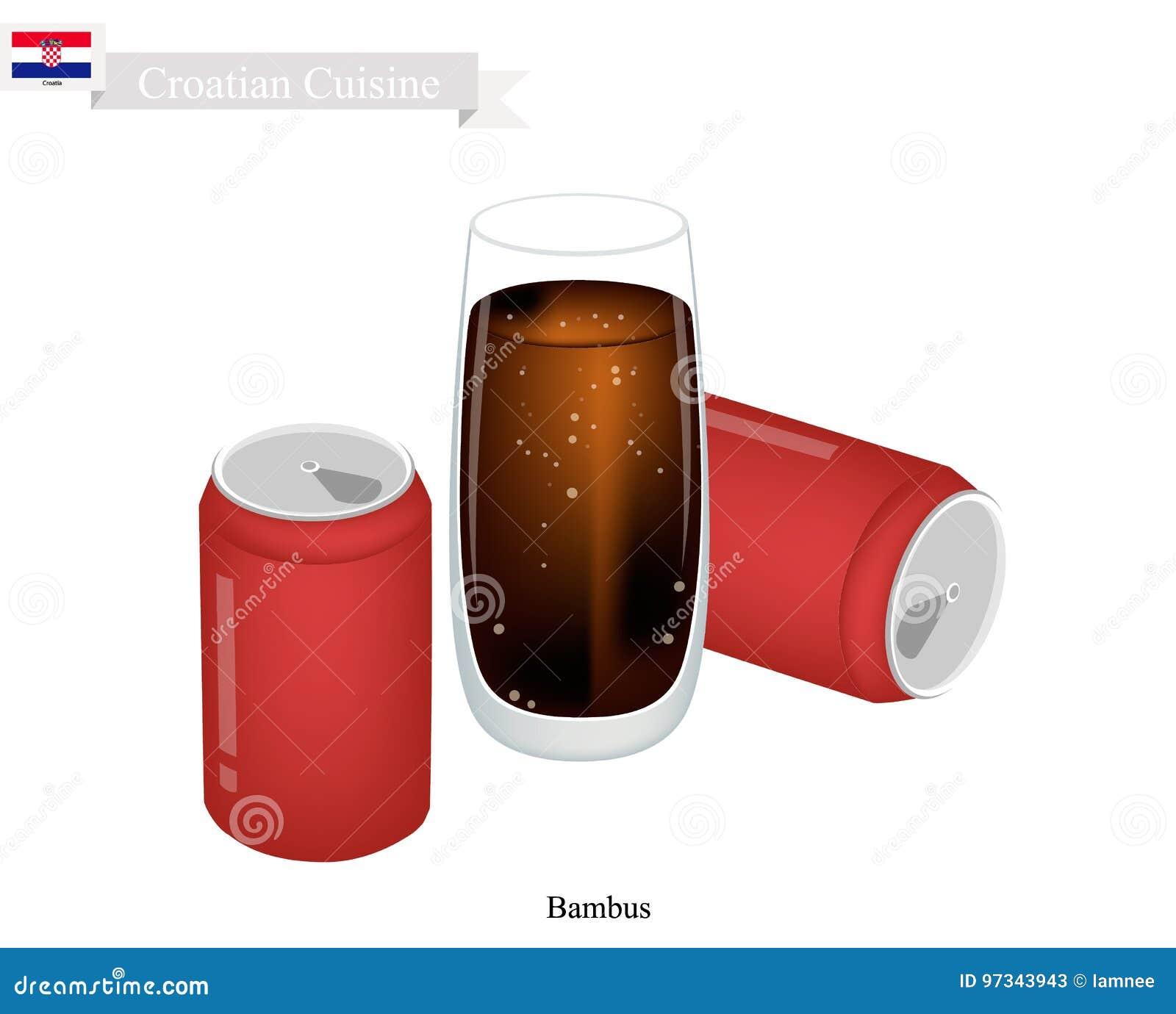 Bambus, Berühmtestes Getränk A In Kroatien Vektor Abbildung ...