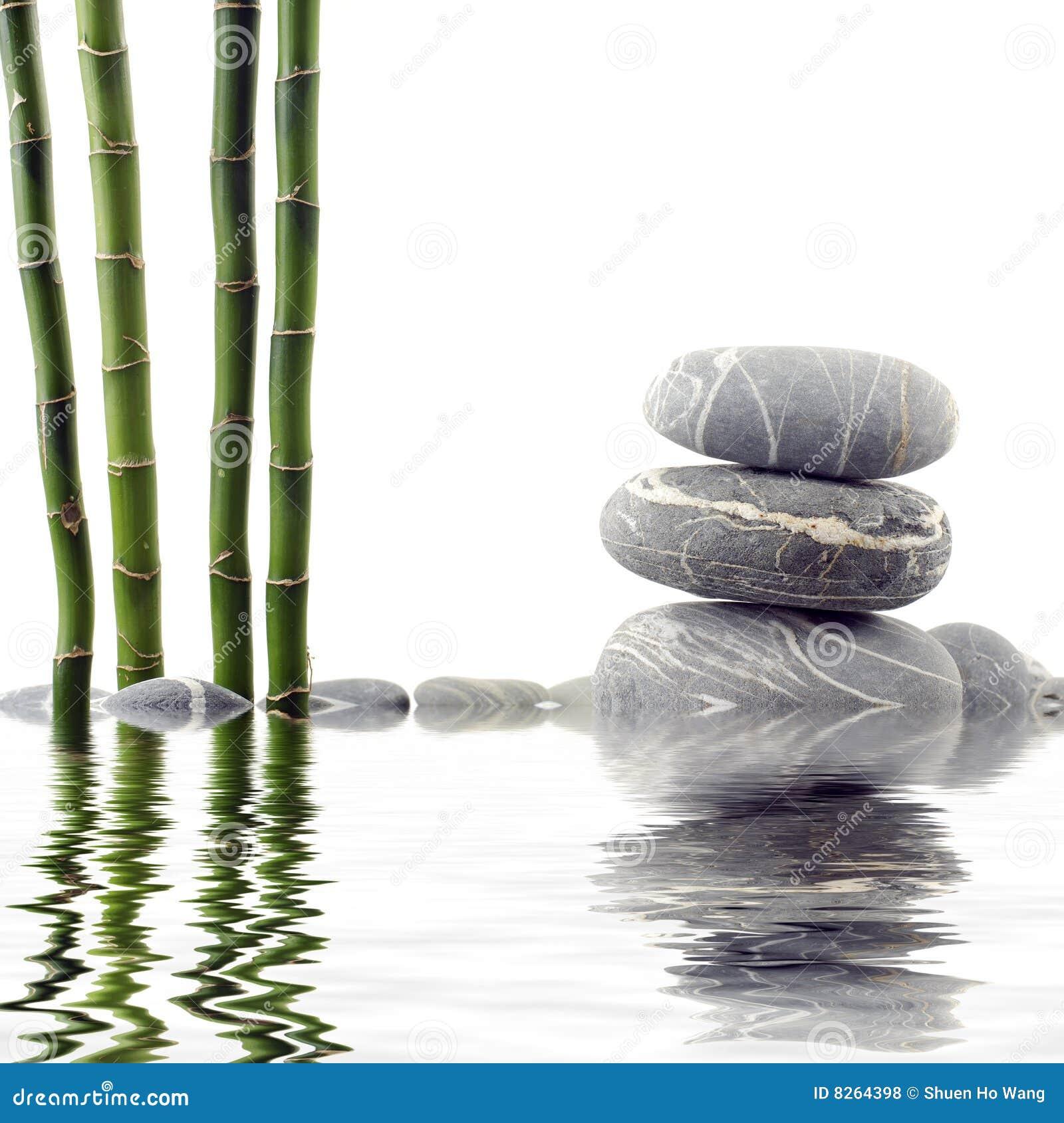 Bambus und Stein