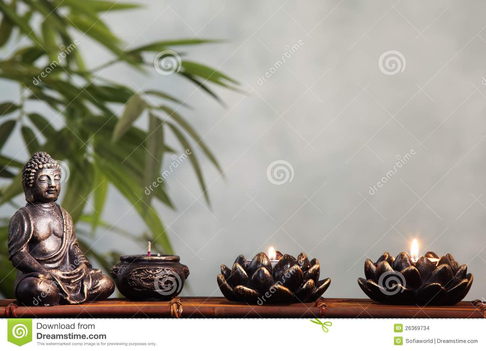 Bambusblatt im Vase