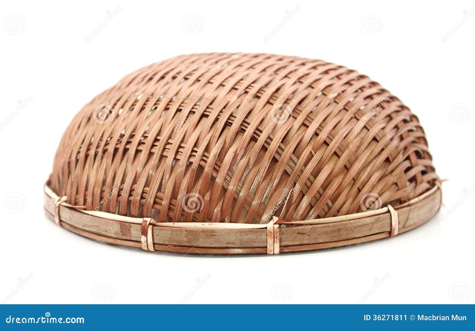 bambuskorb ber wei stockbild bild von kunst frech. Black Bedroom Furniture Sets. Home Design Ideas