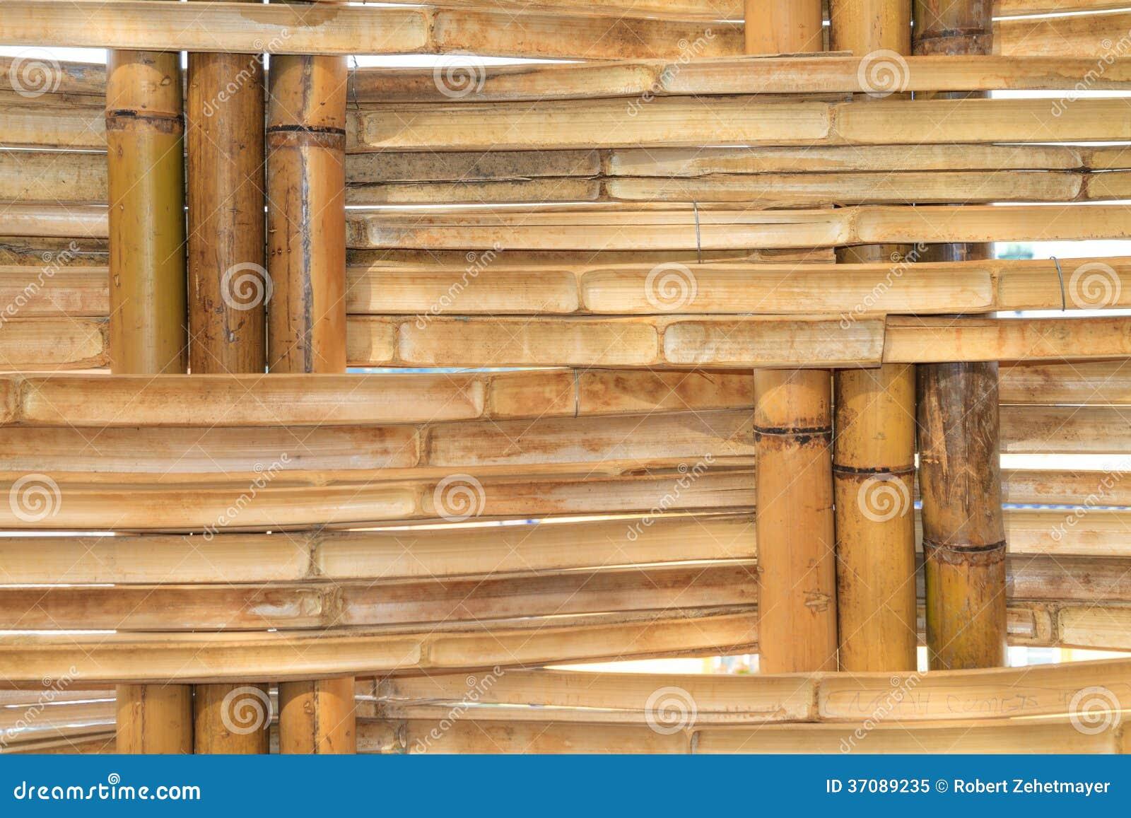 Download Bambusowy Budowy Wnętrza Widok Obraz Stock - Obraz złożonej z materiał, natura: 37089235