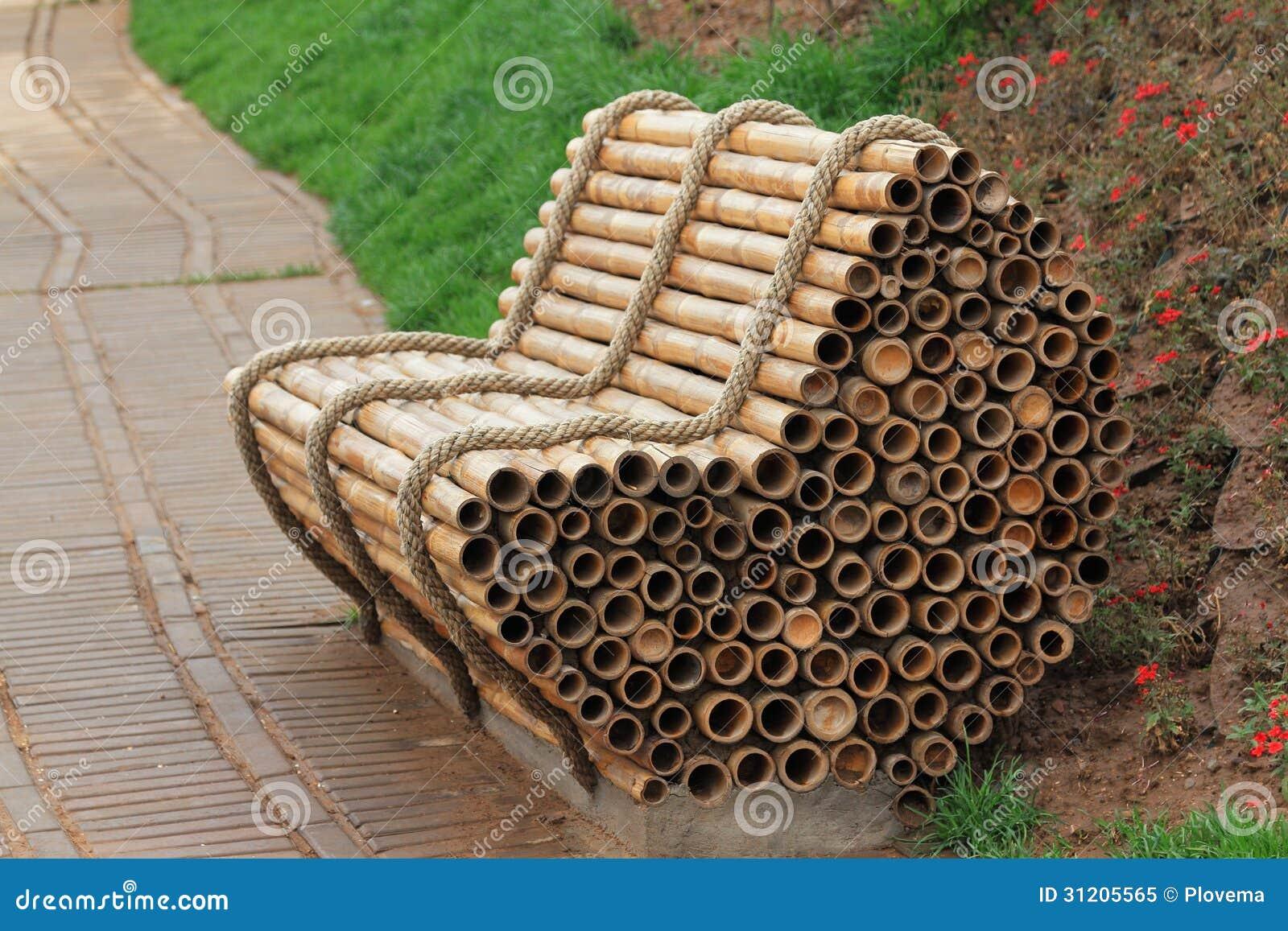 Bambusowy krzesło