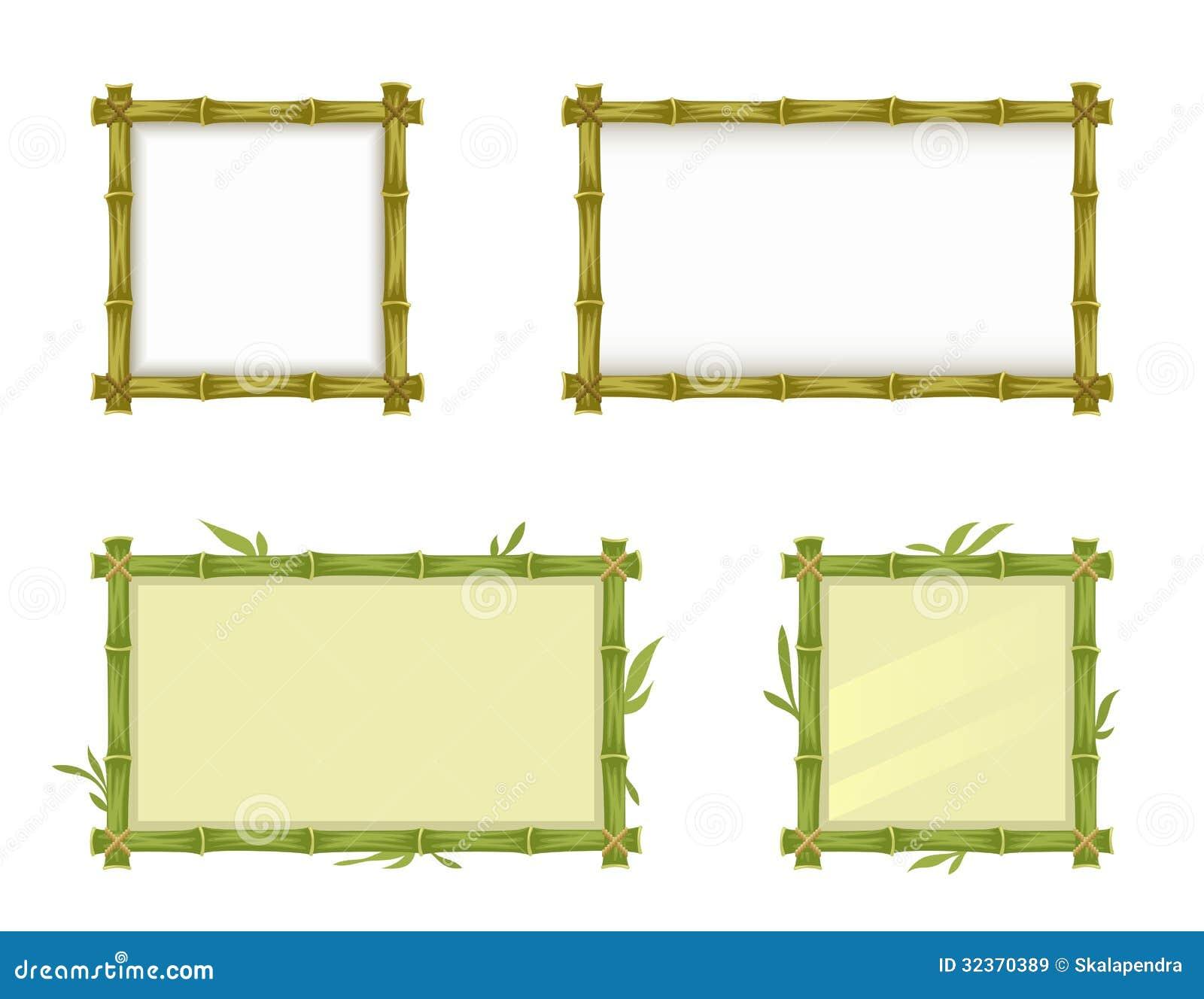Bambusrahmen vektor abbildung. Illustration von braun - 32370389