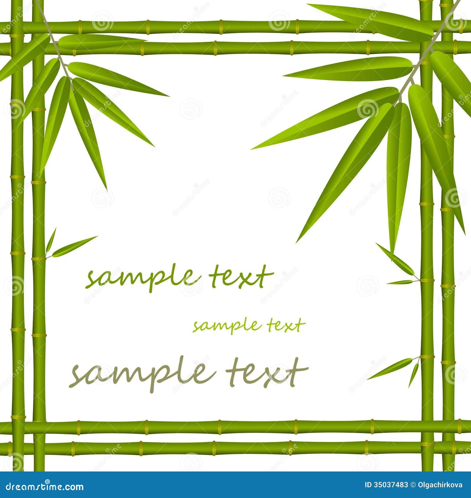 Bambusrahmen vektor abbildung. Illustration von schön - 35037483