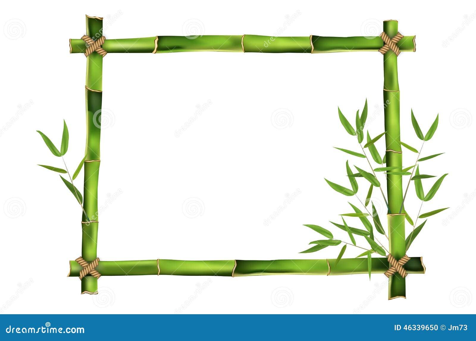 Bambusrahmen Für Ihre Mitteilung Vektor Abbildung - Illustration von ...
