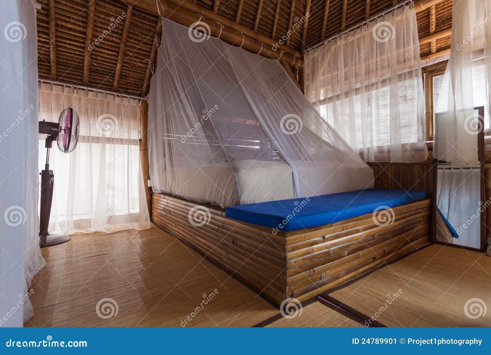 Bambusschlafzimmer stockbild. Bild von hölzern, schlafzimmer - 24789901
