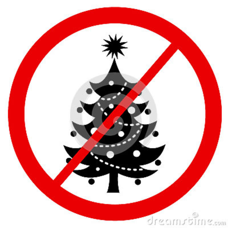 Is A Christmas Tree A Religious Symbol: Ban Of Christmas Tree Stock Vector. Illustration Of