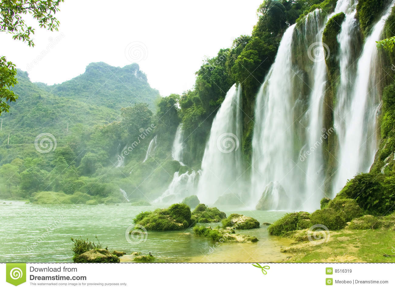 Nature Images 2mb: Ban Gioc Waterfall In Vietnam Stock Image