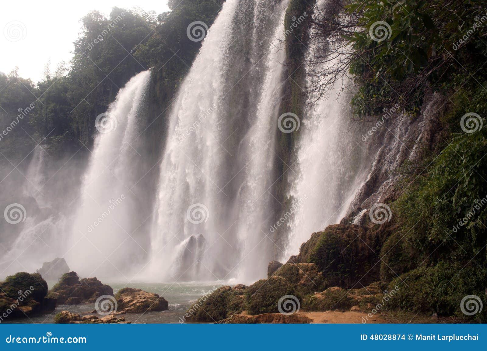 Ban Gioc waterfall in Vietnam.