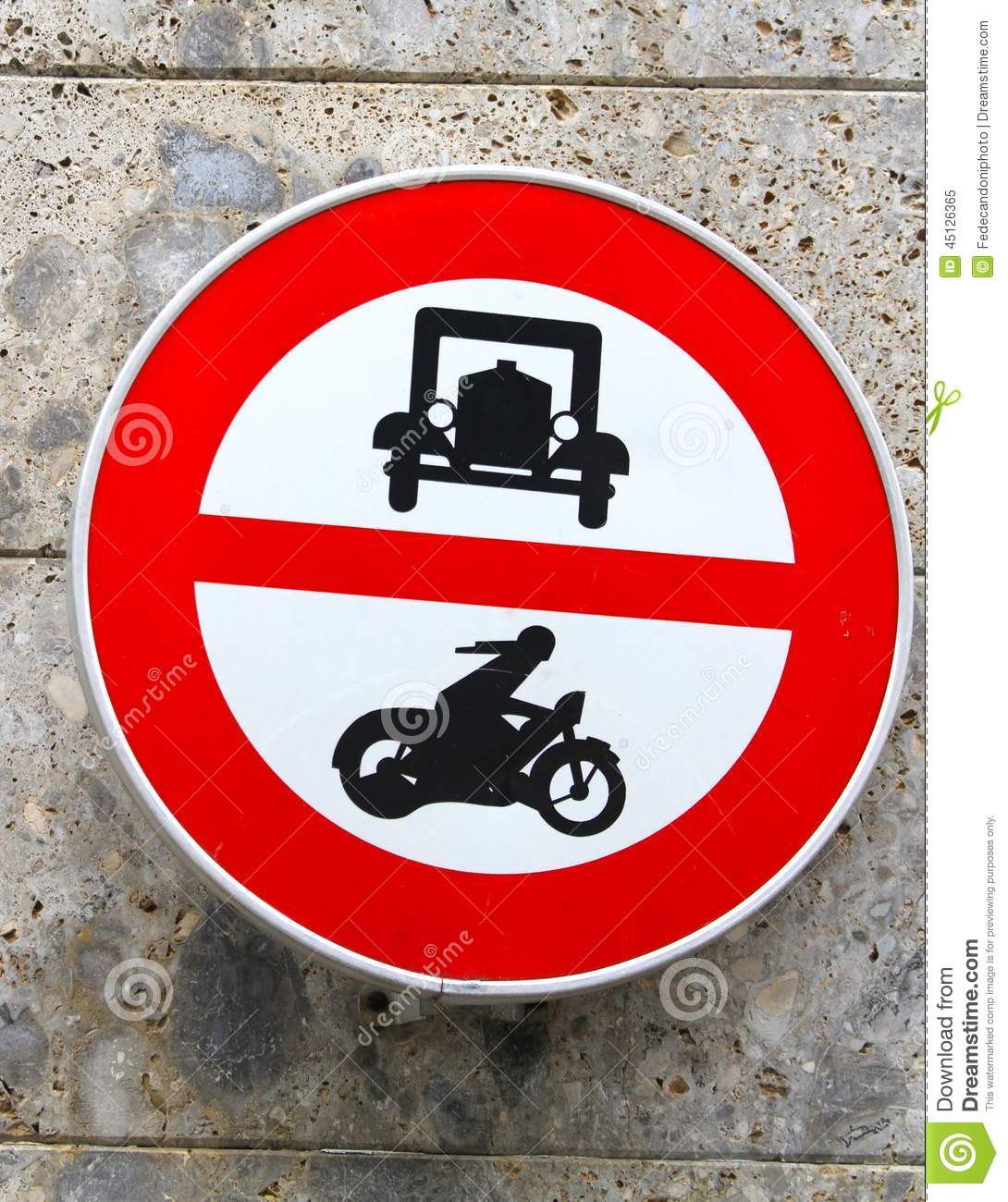 Ban Transit Signal In All Motor Vehicles And Cars Motorcycles Stock ...