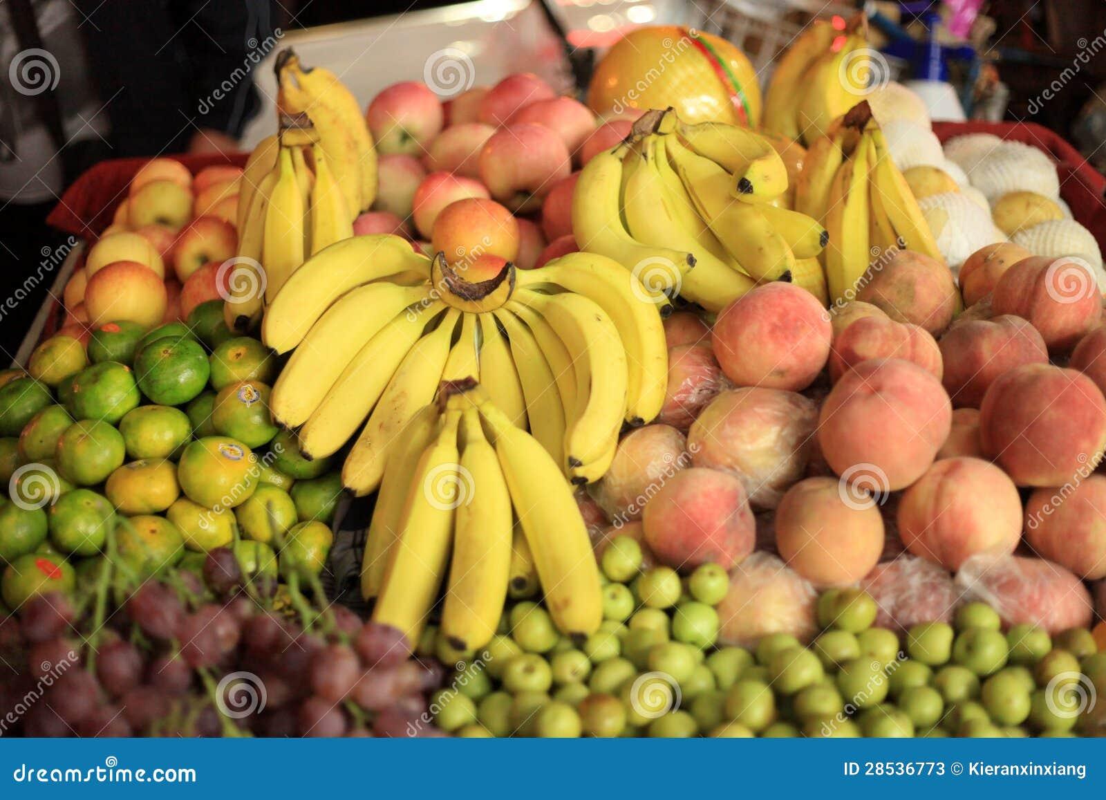 Banaan, sinaasappel, appel, pompelmoes, pompelmoes, fruitsupermarkt, zonnige winkel, heel wat, natuurlijk, vers, kernachtig,