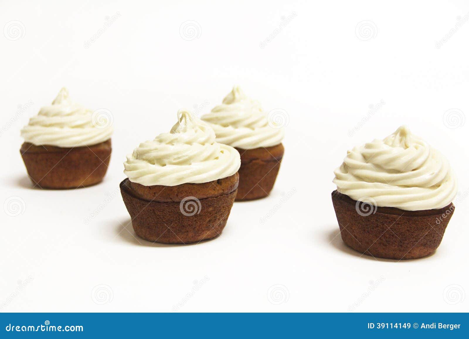 Banaanesdoorn Cupcakes op wit