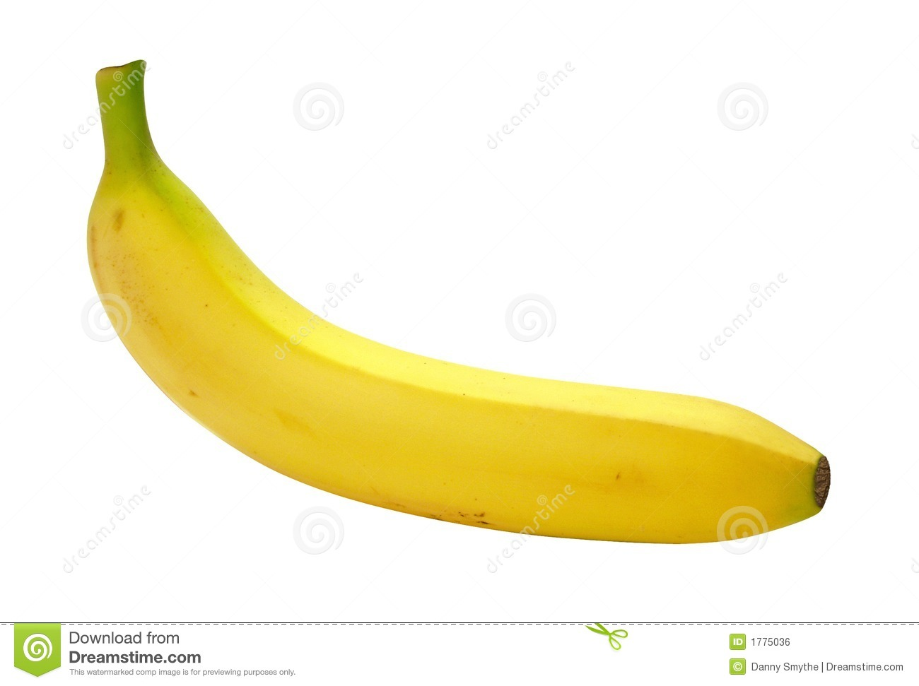 Banana isolated on a white background.Isolation is on a transparent ...