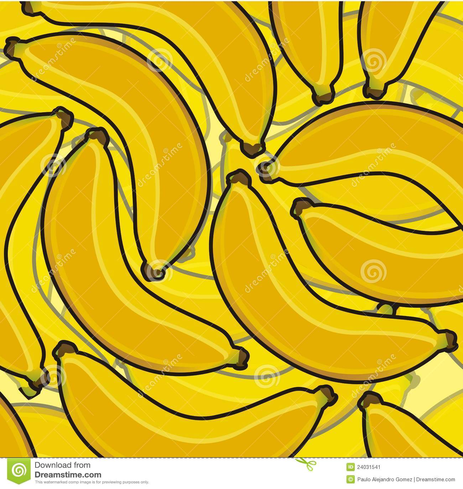 Banana cartoon background stock vector. Illustration of ...
