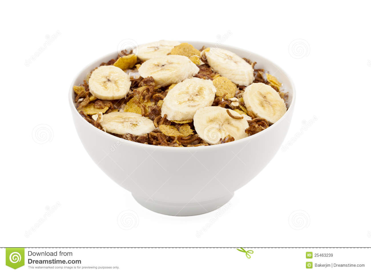 banana cereal royalty free stock images   image 25463239