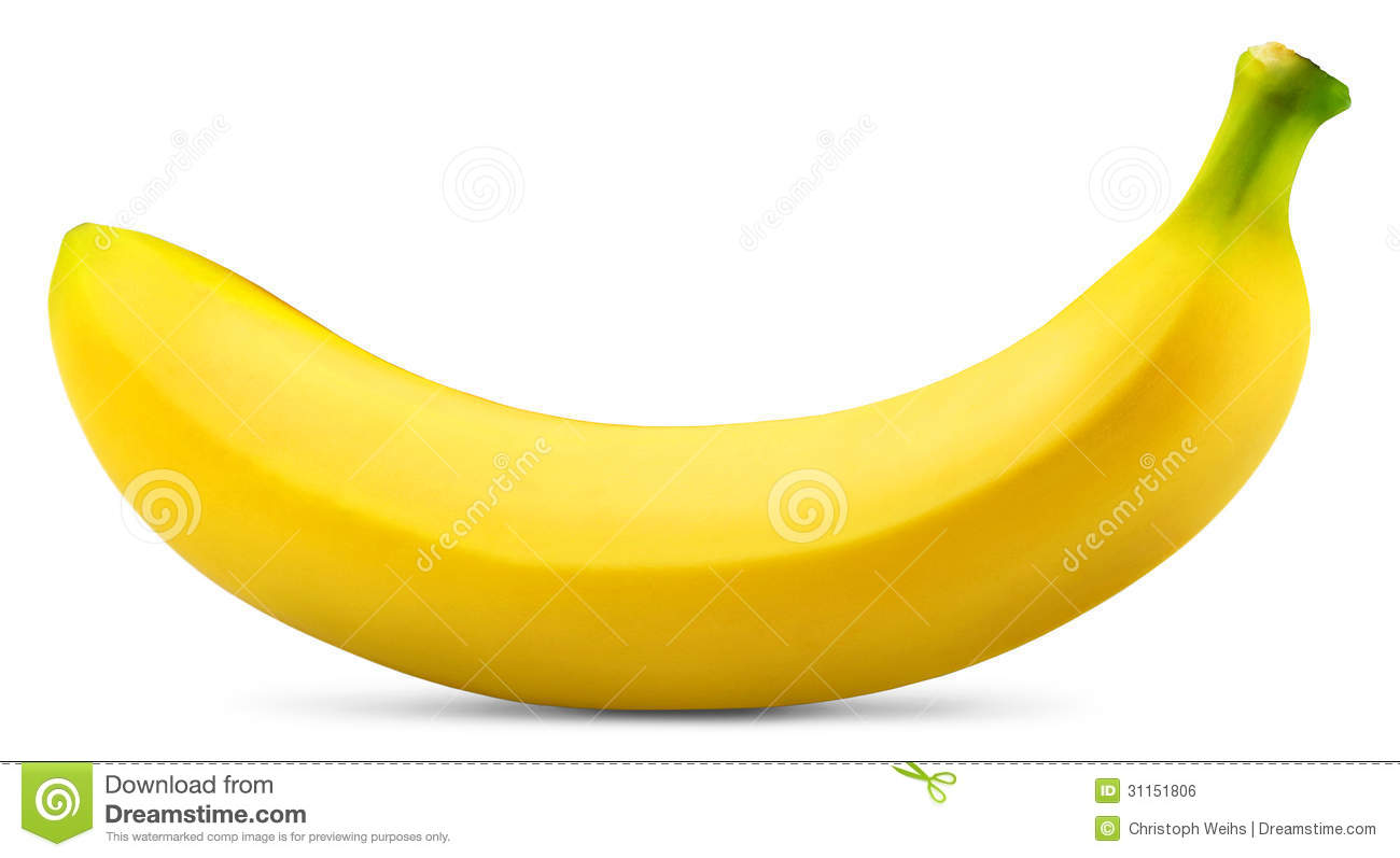 Banana Close Up Isolated White Thank You Stock Photos Royalty