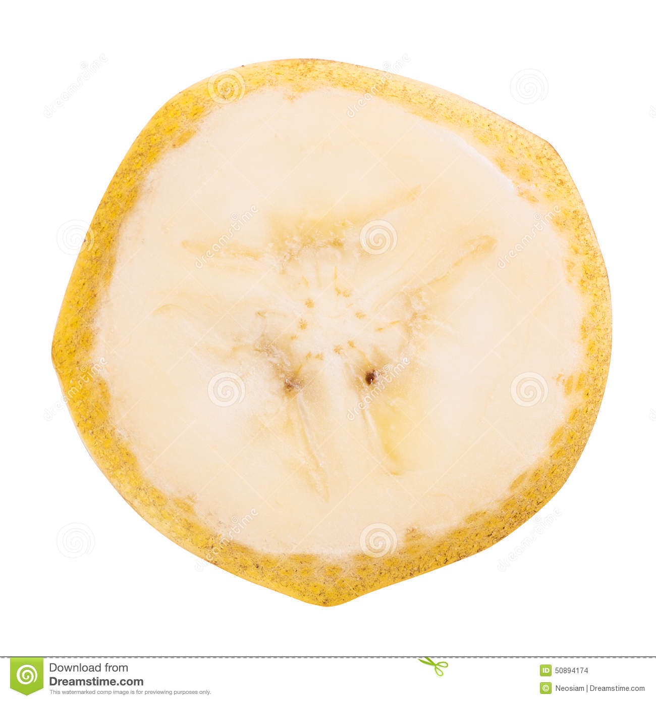 Banana Cut Slice Stock Photo - Image: 50894174