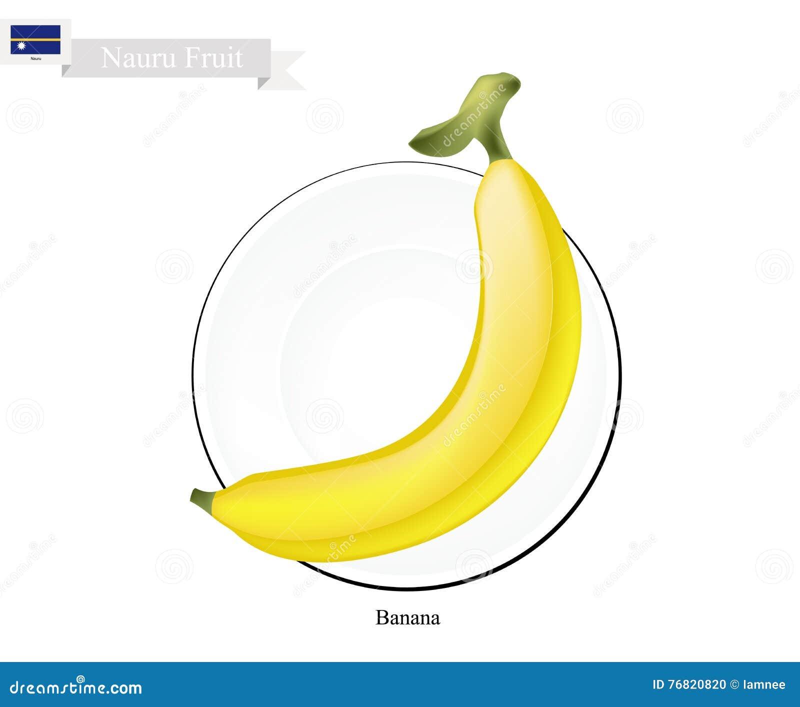 Banana dourada, frutos populares em Nauru