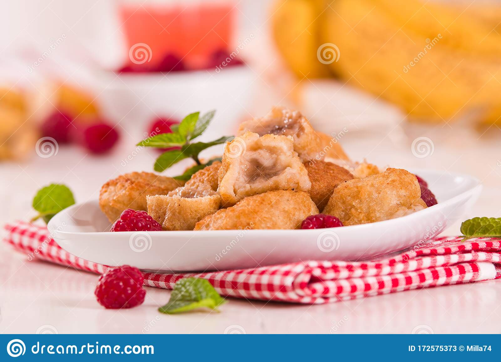 Banana Fritters Stock Image Image Of Baked Gourmet 172575373