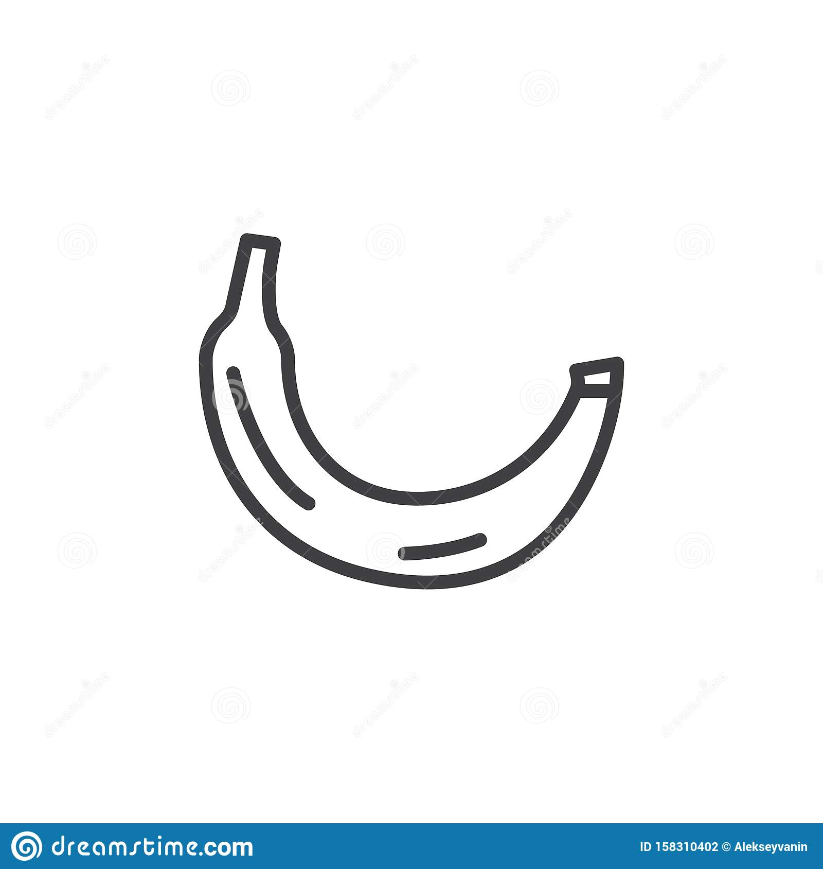 Banana fruit line icon