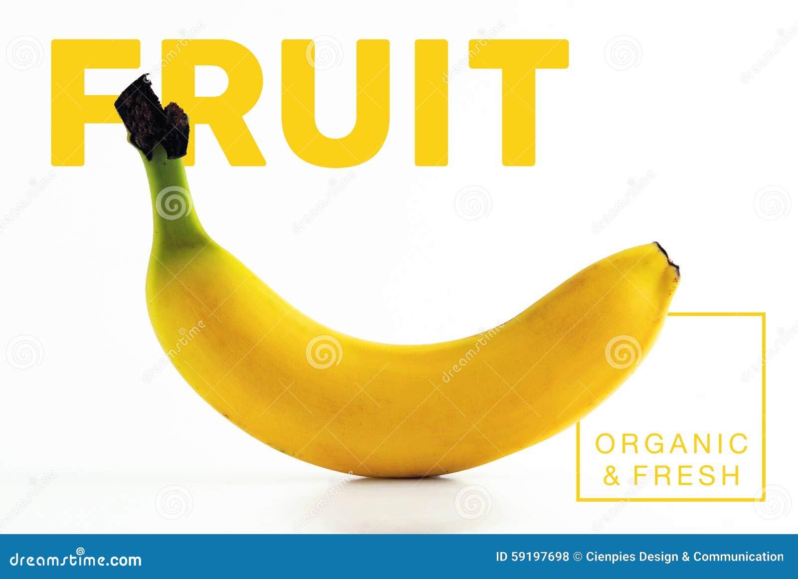 banana fruit organic and fresh food poster stock illustration