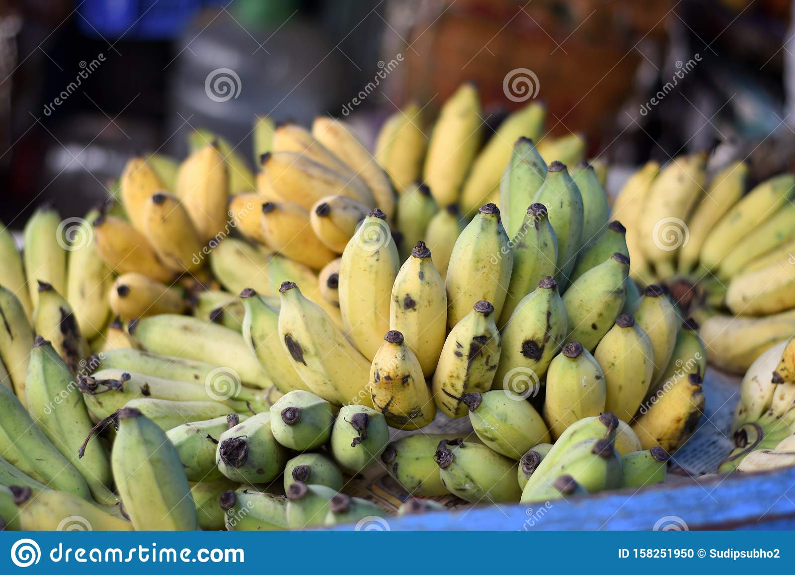 Banana Fruit on sale in the market Patuli Floating Market, Kolkata, India
