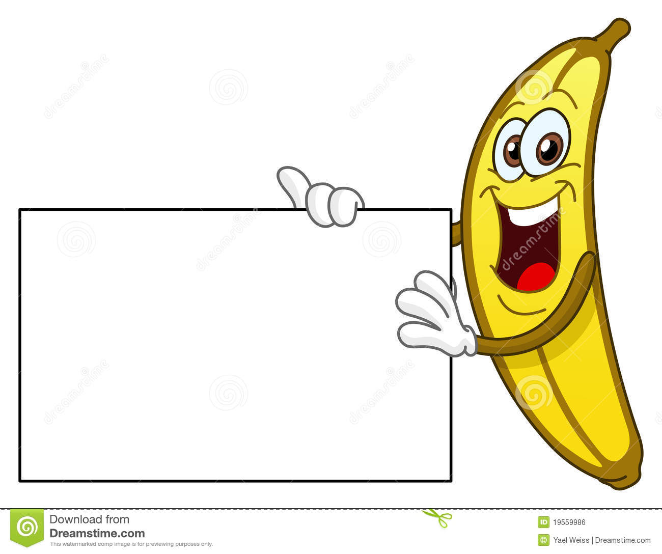 Royalty Free Stock Image Banana Holding Sign Image19559986 on banana cartoon character