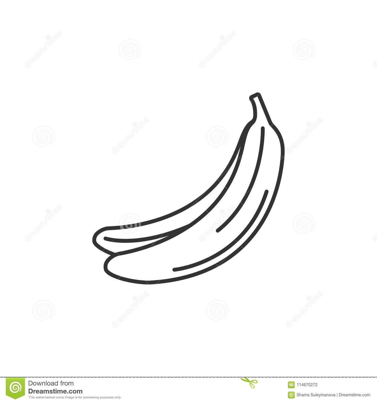 banana icon simple element illustration banana symbol design