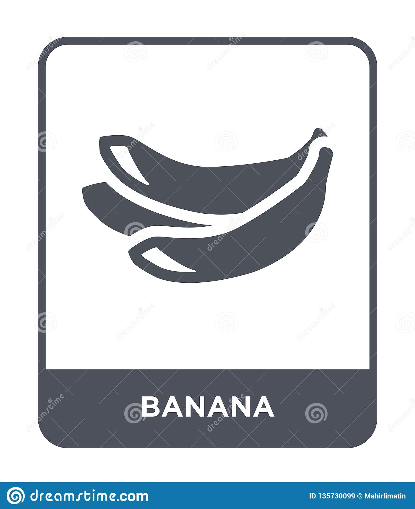 banana icon in trendy design style. banana icon isolated on white background. banana vector icon simple and modern flat symbol for