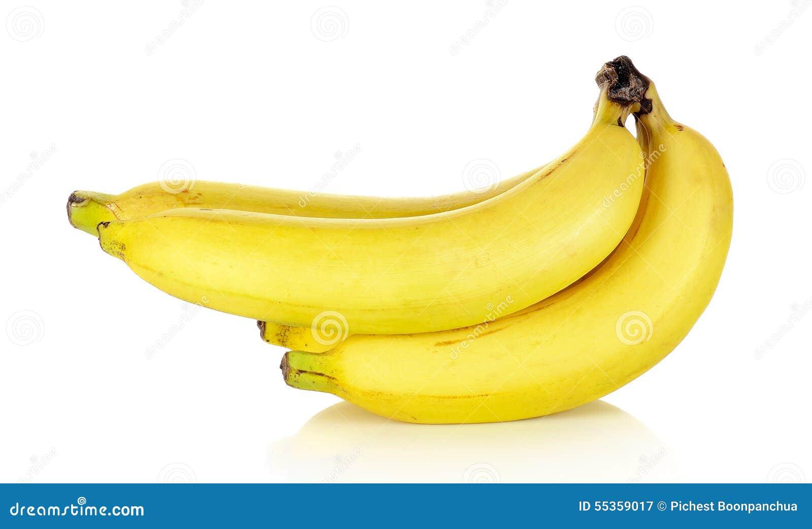 Banana isolata sui precedenti bianchi