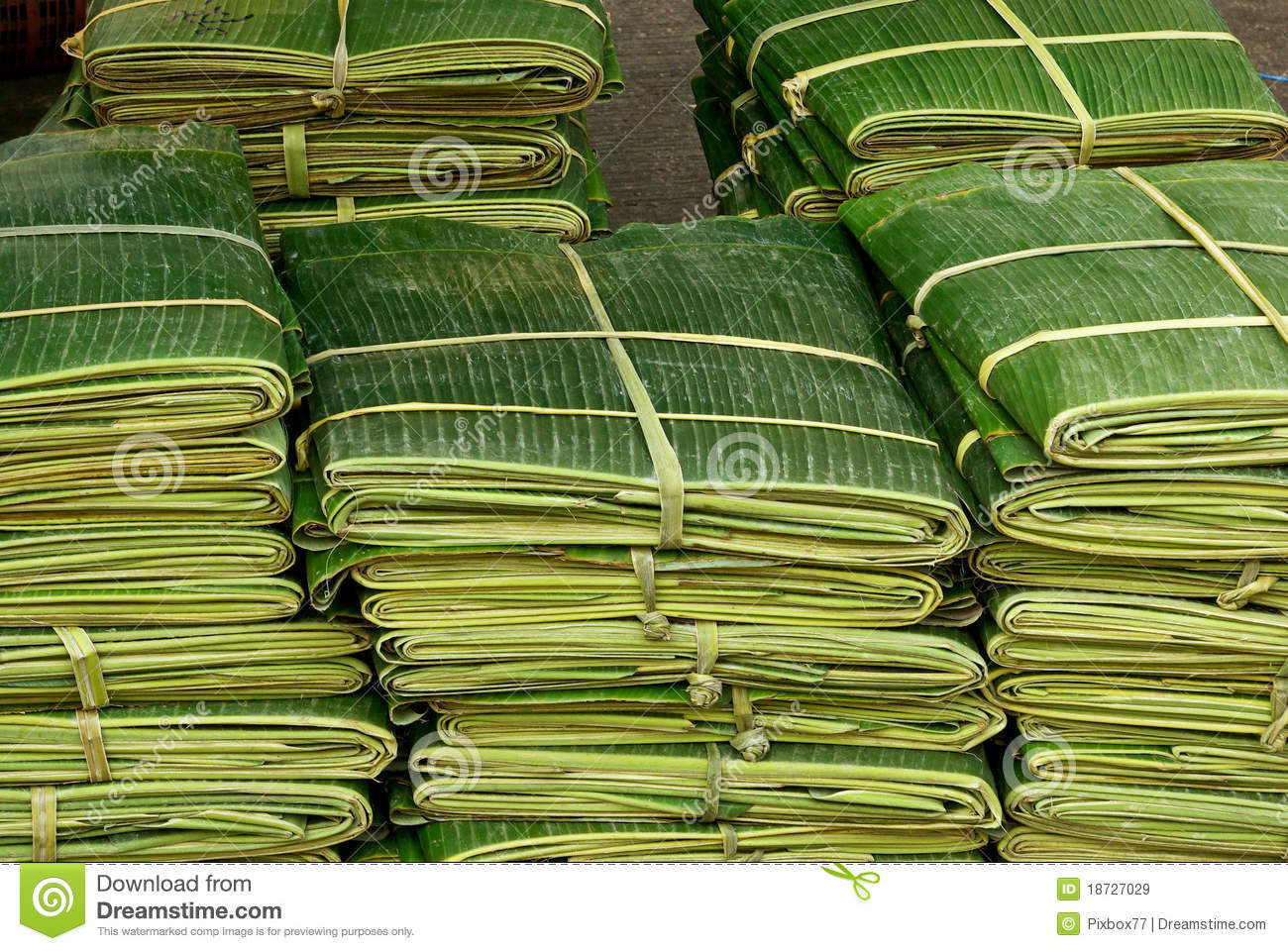 banana leaf for decorate food in thai style stock image. Black Bedroom Furniture Sets. Home Design Ideas