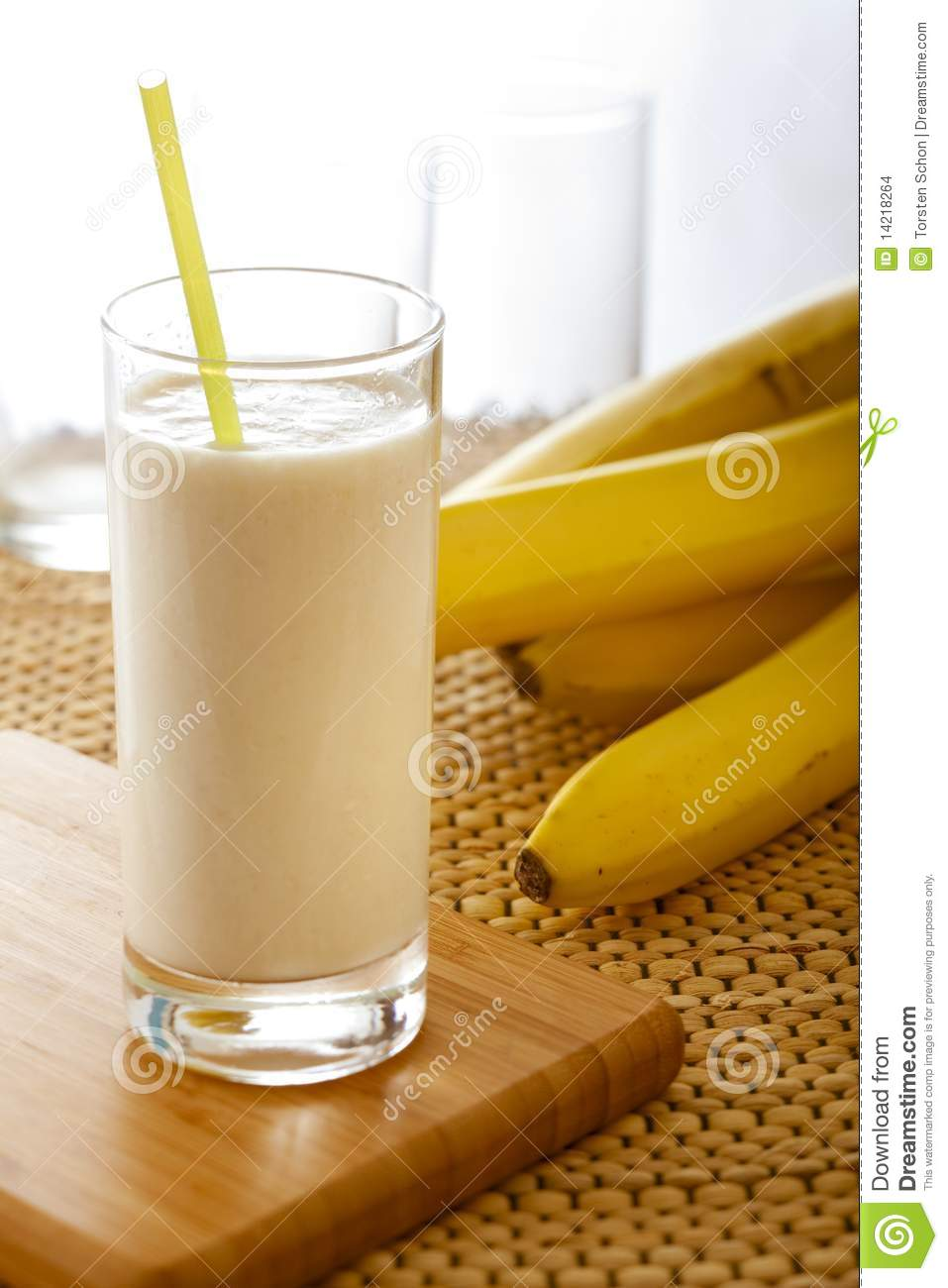 Banana Milkshake Stock Images Image 14218264