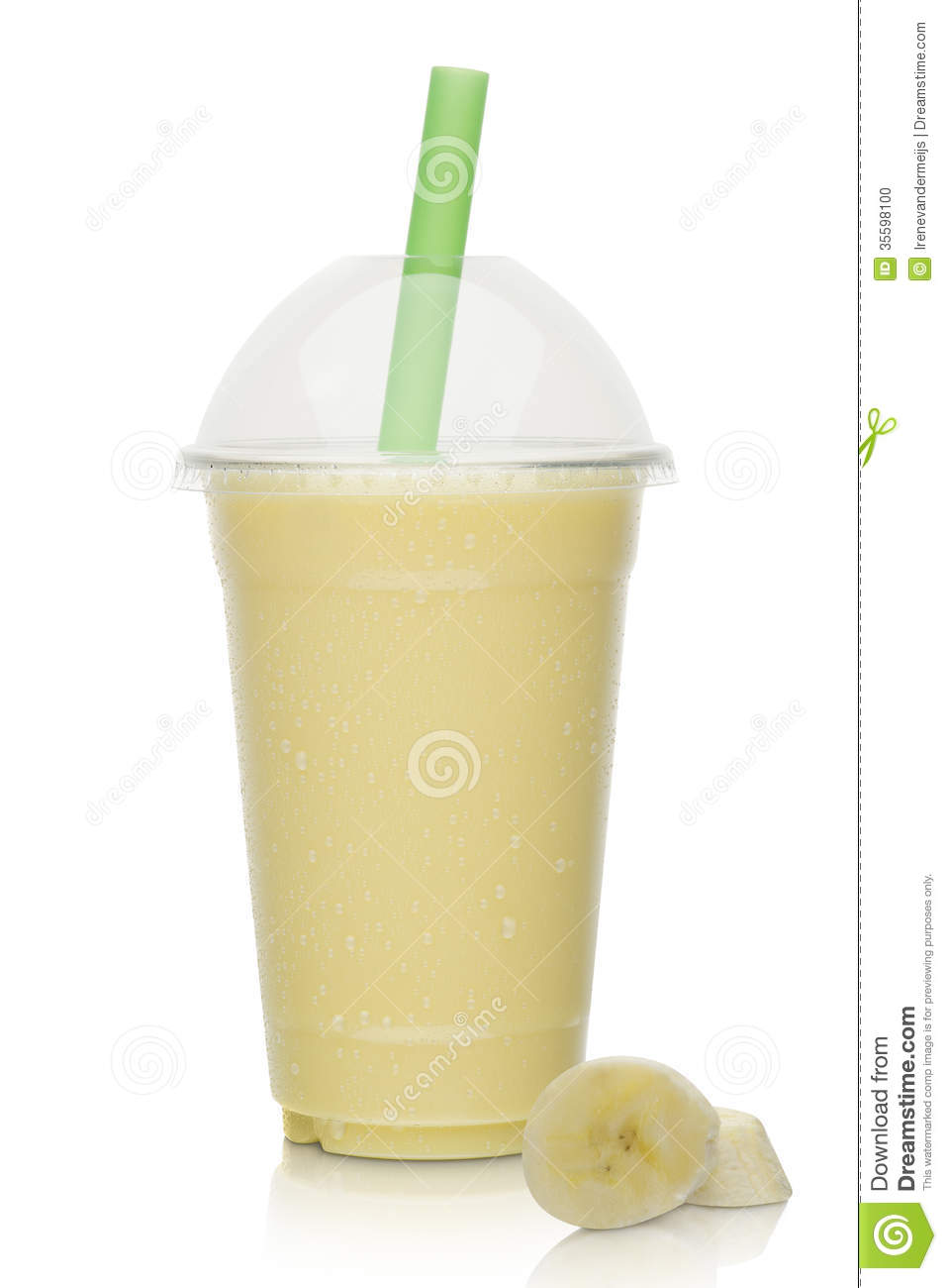 Banana Milkshake With Fresh Banana Stock Photo - Image: 35598100