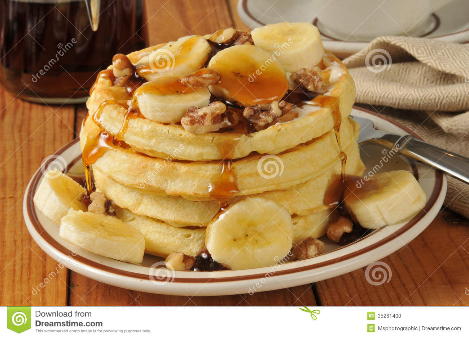 Maple Walnut Waffles Recipe — Dishmaps