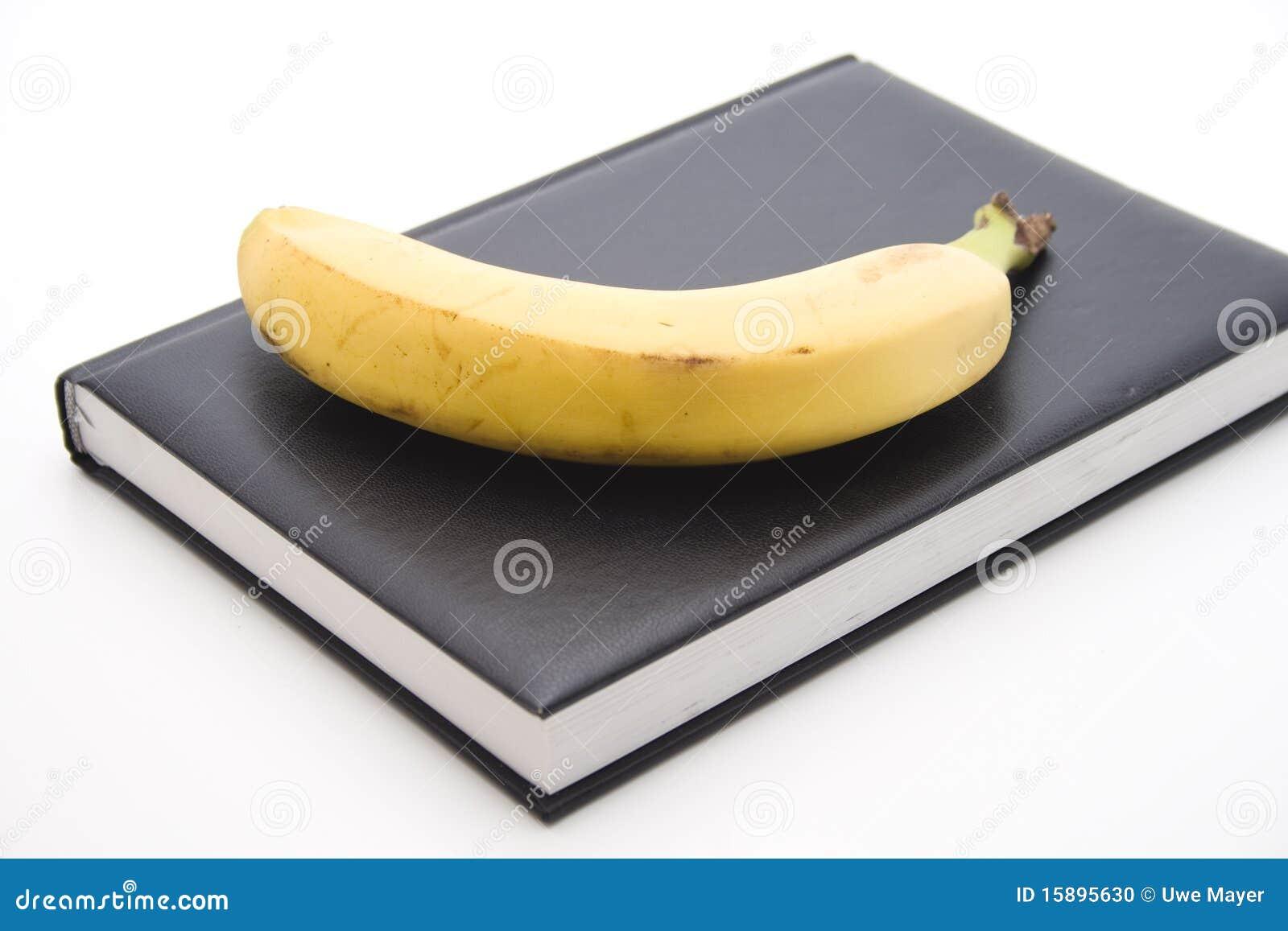 Banana Onto Book Stock Photo - Image: 15895630