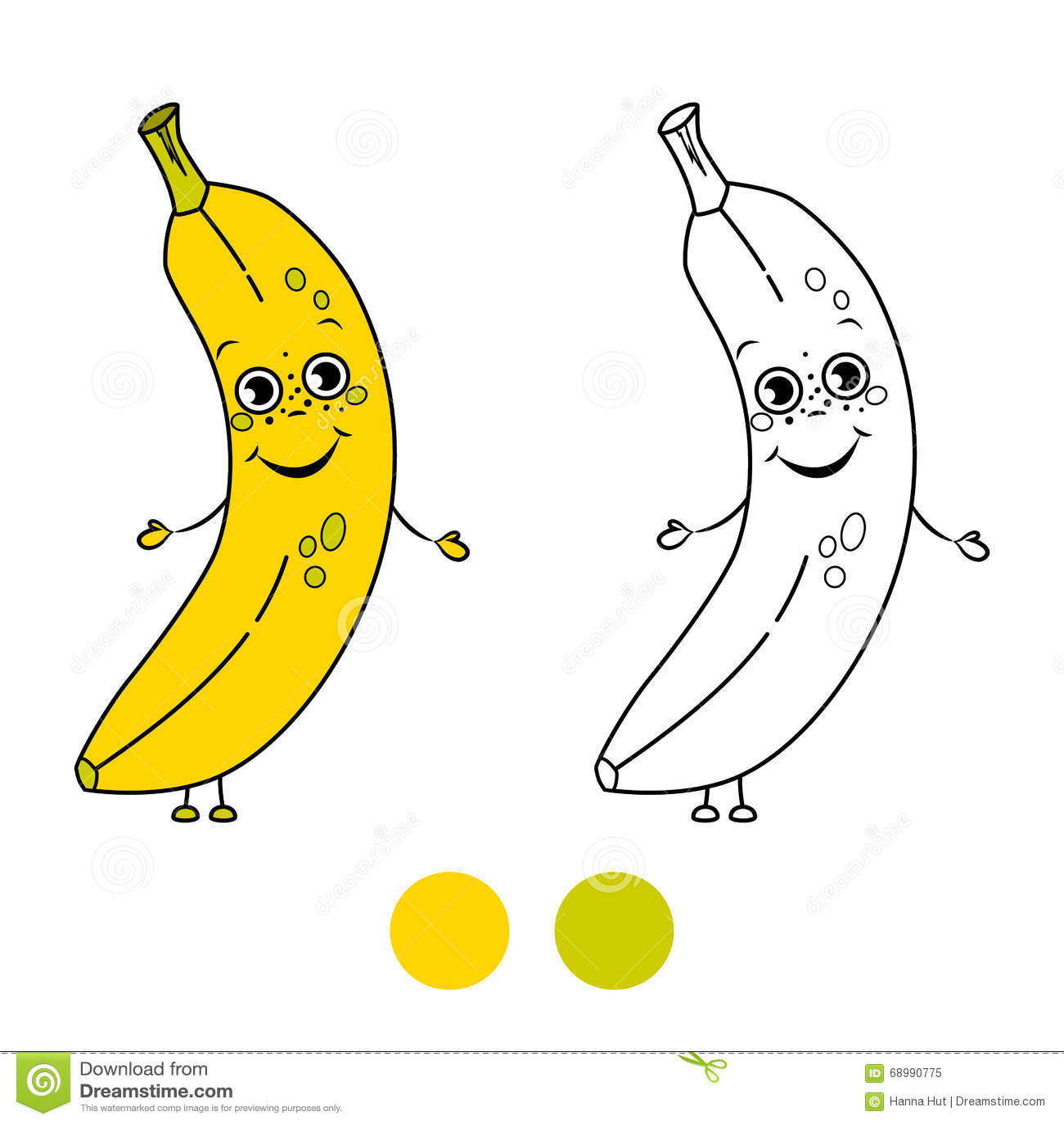 Banana Pagina Do Livro Para Colorir Ilustracao Do Vetor