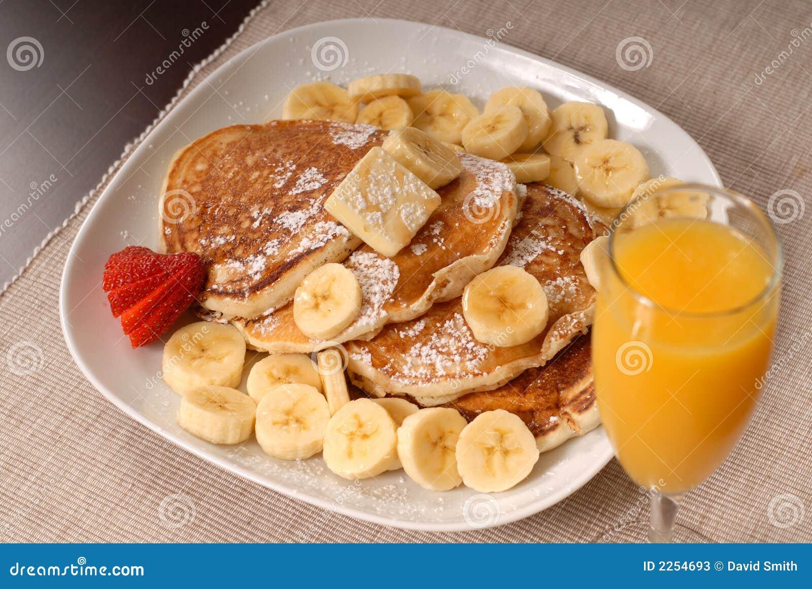 Download Banana pancakes with juice stock image. Image of pancakes - 2254693
