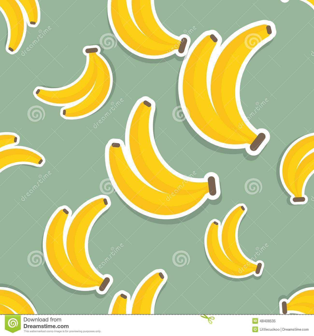 Banana Pattern. Seamless Texture With Ripe Bananas. Natural, Decoration.