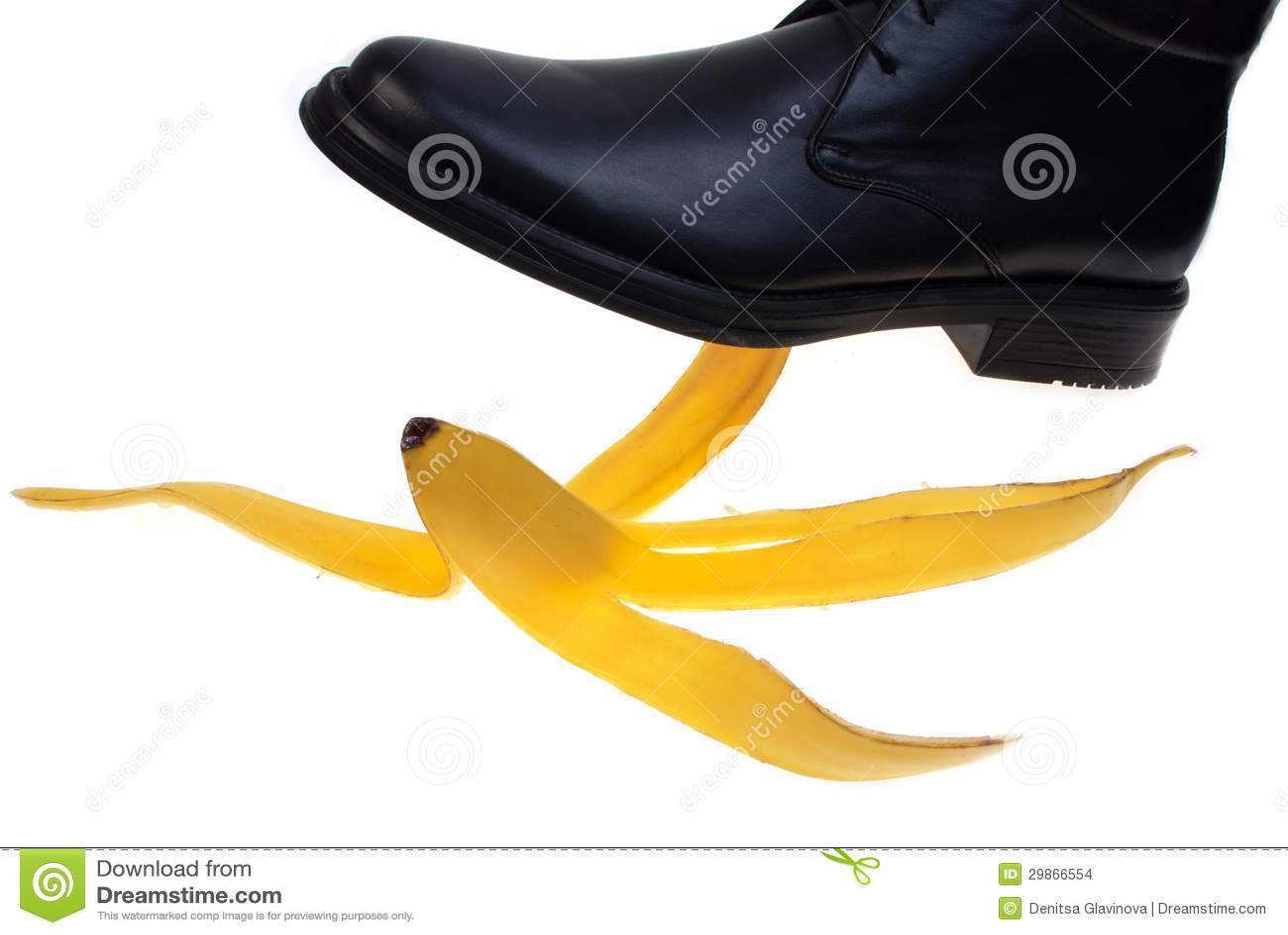 banana peel as shoe polish background of the study