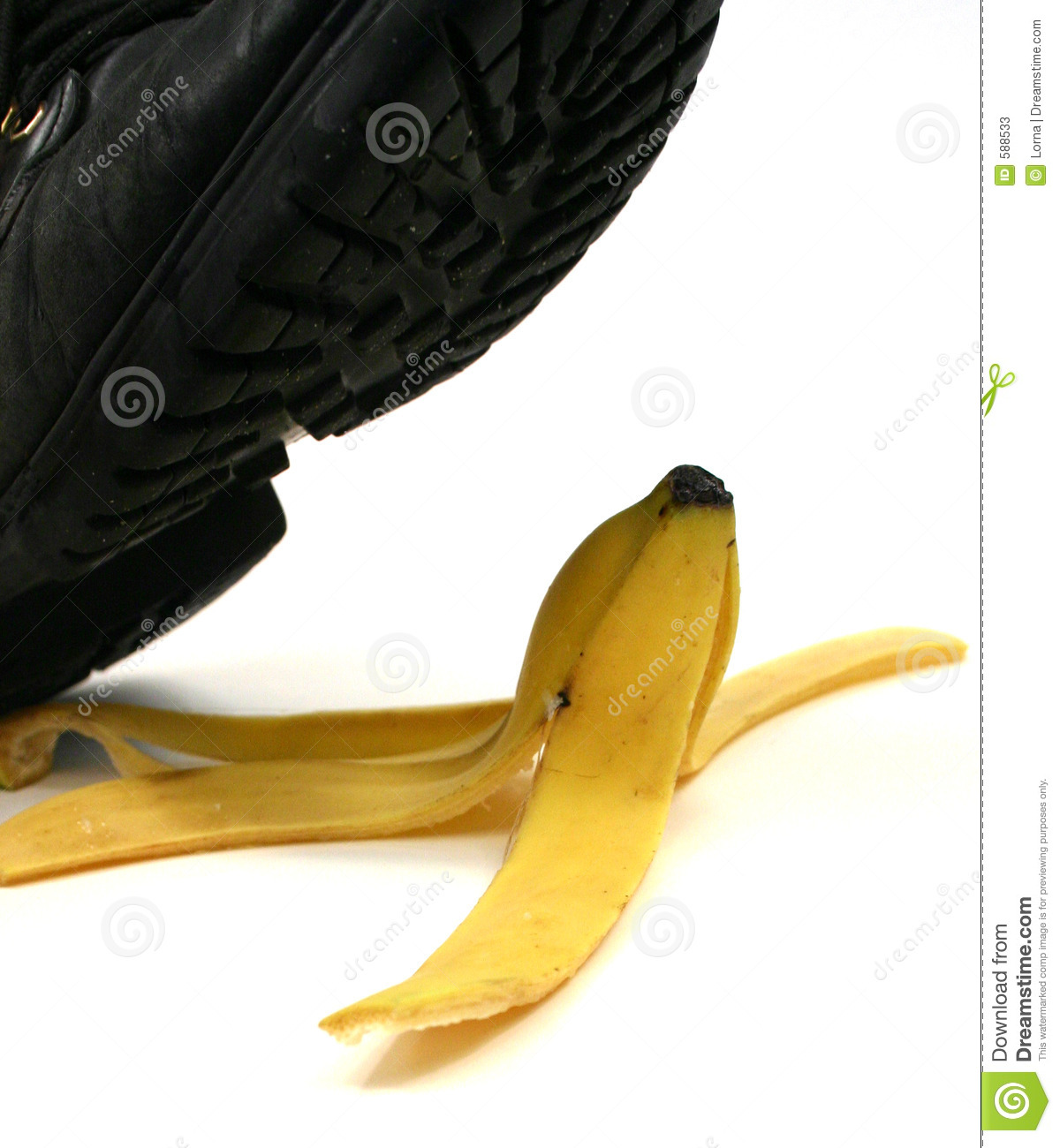 Banana Peel Slipping Stock Photos - Image: 588533
