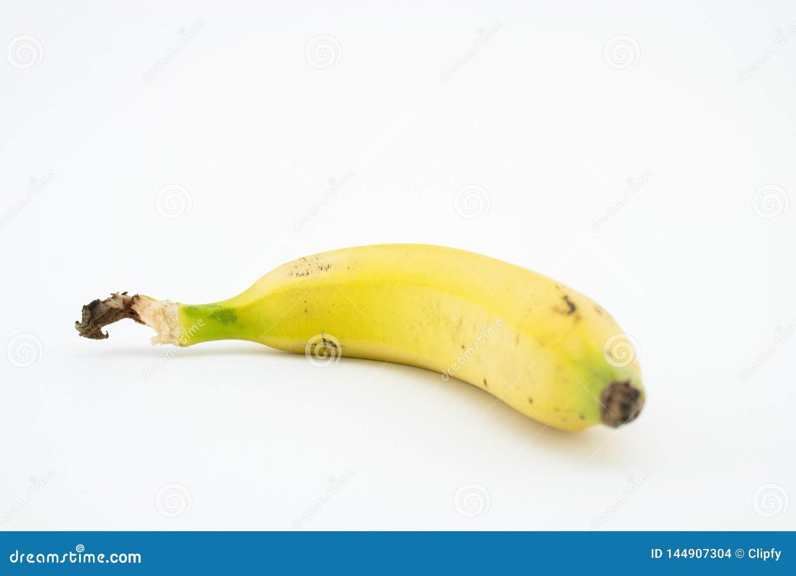 Banana or plantain isolated on white background. Potassium and magnesium